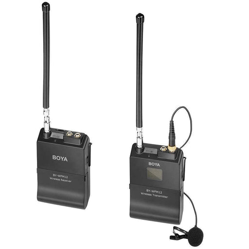 BOYA hot selling BY-WFM12 VHF Wireless Lavalier Microphone for DSLR Cameras & Smartphones - PanasiaMarine.Com