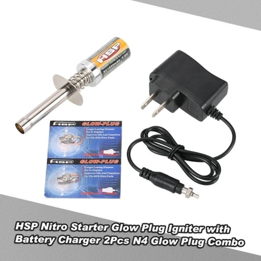 HSP Nitro Starter Kit Glow Plug Igniter With Battery Charger For 1/10 RC Car - PanasiaMarine.Com