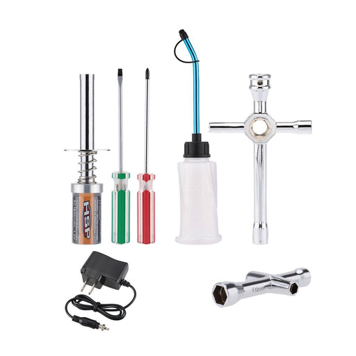 Nitro Starter Glow Plug Igniter Charger Tools Fuel Bottle Combo Kit for Redcat HSP Nitro Powered 1/8 1/10 RC Car Parts - PanasiaMarine.Com