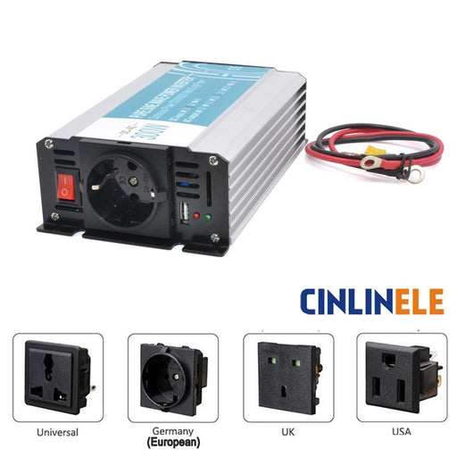 Europe Socket Pure Sine Wave Inverter 300W 600W DC 12V 24V 48V to AC 110V 220V Smart  Series Solar Power  300W Surge Power 600W - PanasiaMarine.Com