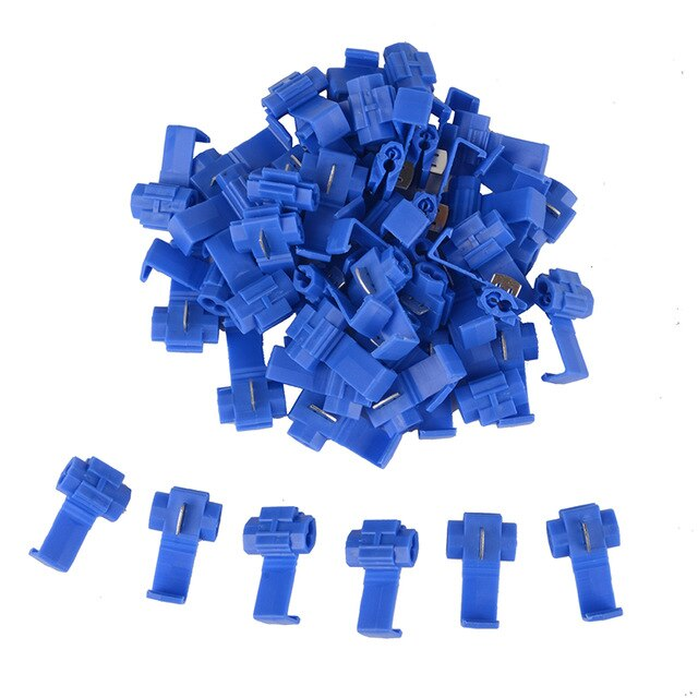 50pcs Cable Crimp Connectors Quick Splice Snap Lock Electrical Wire Terminals Red/Blue/Yellow - PanasiaMarine.Com