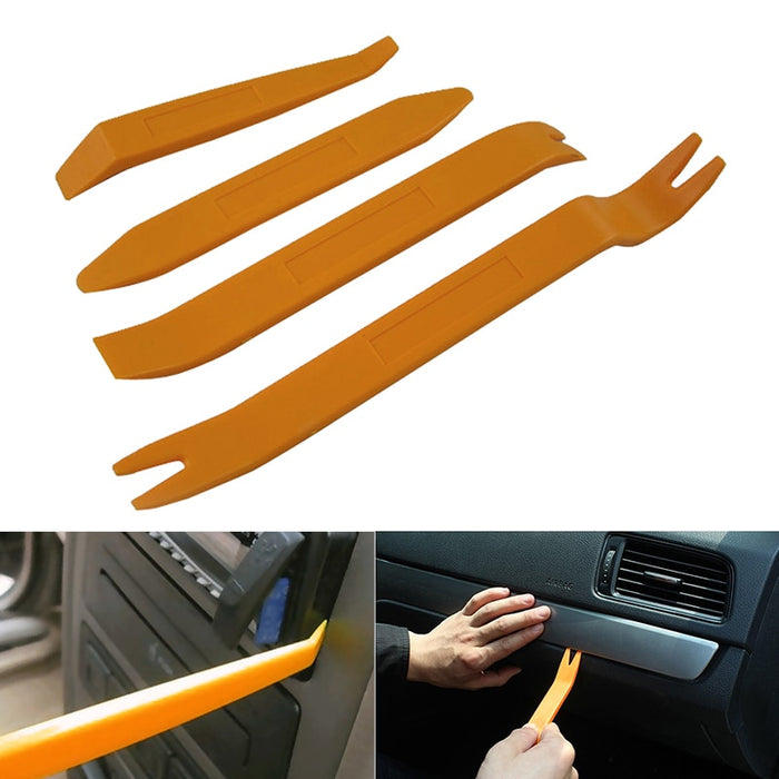 Professional 4PCS Orange ABS Automobile Audio Door Clip Panel Trim Dash Auto Radio Removal Pry Tools Set Car Panel Removal Tool - PanasiaMarine.Com