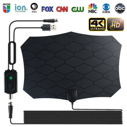 200 Miles HDTV Antenna Amplifier 1080p TV Antenna HD Digital Indoor Television HDTV Electronic Over The Air Range Fox 30A14 - PanasiaMarine.Com