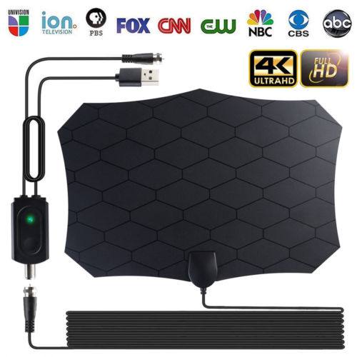 200 Miles HDTV Antenna Amplifier 1080p TV Antenna HD Digital Indoor Television HDTV Electronic Over The Air Range 30A14 - PanasiaMarine.Com