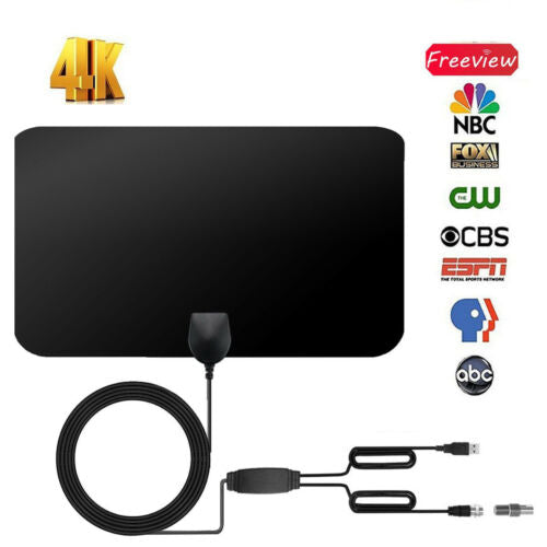200 Miles TV Antena 1080P Digital HDTV Indoor TV Antenna With Amplifier Signal Booster Radius Surf Fox HD Mini Antennas Aerial - PanasiaMarine.Com