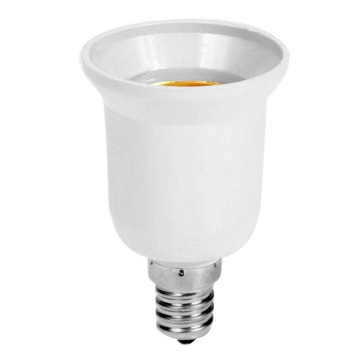 Fireproof Plastic E14 to E27 Socket Adapter Conversion Lamp Holder Converter Socket Light Bulb Adapter Led Light Base Accessory - PanasiaMarine.Com