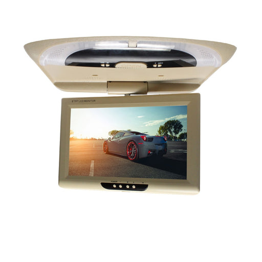 9 Inch Car Monitor CD Player Dome Lights DVD Digital Screen LCD Color Roof Mount Display ABS Multimedia Video TFT Flip Down - PanasiaMarine.Com