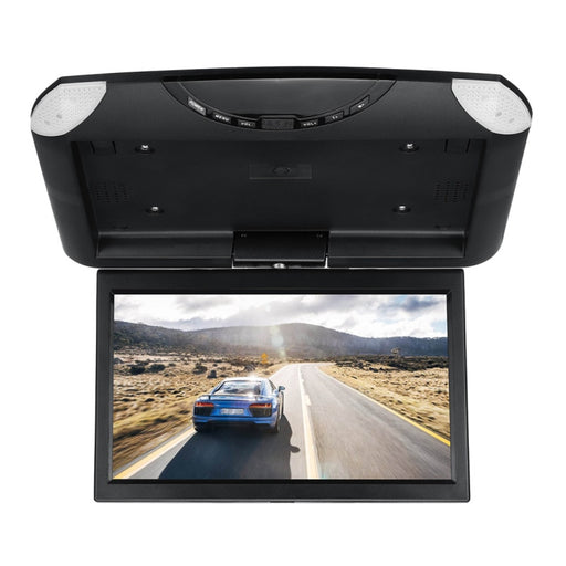 10.1 Inch Car Roof Monitor + Remote Controller Ceiling Mount Flip Down LCD Digital Screen DVD Player IR Transmitter Dome Light - PanasiaMarine.Com