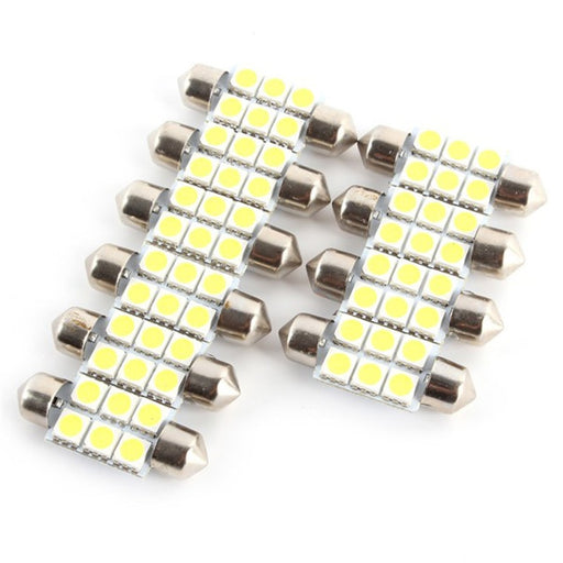 2018 Cheap High Quality 10Pcs 36mm Festoon 5050 6SMD LED White Car Interior Dome Light Bulb Premium - PanasiaMarine.Com