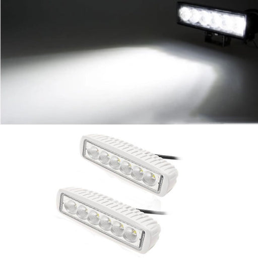 2x White Spreader Deck Led Marine Lights for Boat (Flood Light) 12v - PanasiaMarine.Com