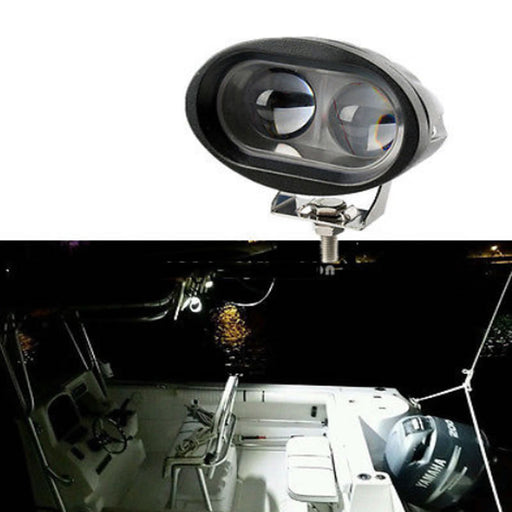 High Quality 20W Marine Spreader Light LED Deck/Mast Light For Boat 12v-30v DC - PanasiaMarine.Com