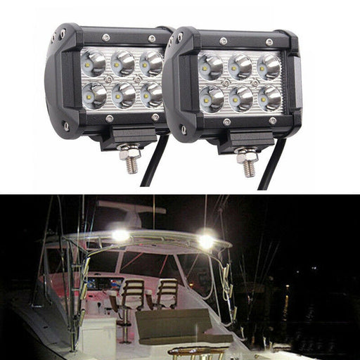2x 12V 18W Spot LED Marine Spreader Light Yacht Marine Boat Stair Deck Mast Lamp Trailer Interior & Exterior Lighting - PanasiaMarine.Com