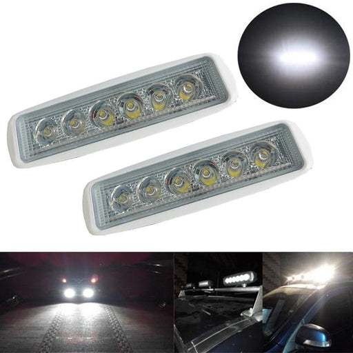 BBQ@FUKA White Spreader LED Deck Marine Lights For Boat Universal Car Front Rear Lamp Spot Light 12-30V 18W Styling Accessories - PanasiaMarine.Com