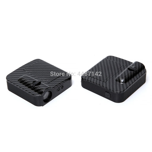2 Pcs Car Logo Door Projector Welcome Light Courtesy Light For Audi Kia Volkswagen Hyundai LED Car Interior Lamp - PanasiaMarine.Com