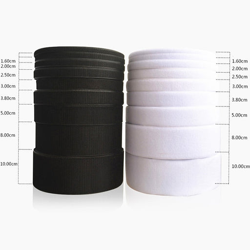 Magic Tape Hook and Loop No Glue White Black Self Adhesive Fastener Tape Strip Sewing Accessory 16/20/25/30/40/50/100mm*1m/Pair - PanasiaMarine.Com