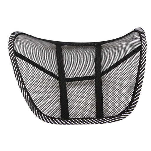 Cool Vent Massage Cushion Mesh Back Lumber Support Office Chair Car Seat Pad Car Interior Seat Cushion Black New Auto Care - PanasiaMarine.Com