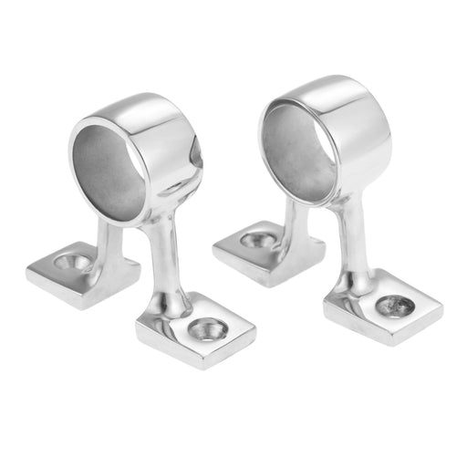 2 Pcs Marine 316 Stainless Steel Boat 90 Degree Center Bracket Hand Rail Fitting Stanchion Mount Hardware For 25mm 1in Pipe Tube - PanasiaMarine.Com