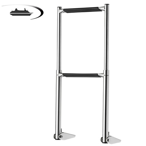 Marine Boat Accessories Marine Stainless Steel Telescoping 2 Step Ladder Upper Swim Platform Boat Yacht - PanasiaMarine.Com
