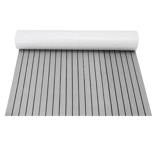 Self Adhesive EVA Foam Teak Sheet Teak Boat Decking Car Boat Yacht Synthetic Teak Flooring Floor Mat Pad Grey 1200mmX2400mmX5mm - PanasiaMarine.Com