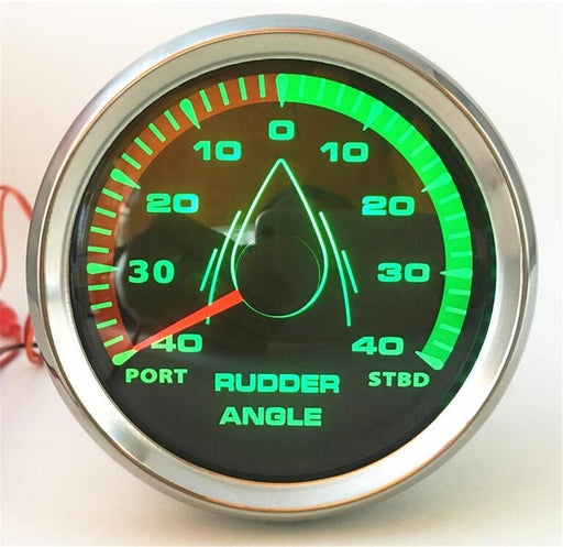 1pc New Style 85mm Marine Lcd Rudder Angle Gauges Waterproof IP67 Rudder Angle Meters Instrument 0-190ohm with 8 Kinds Backlight - PanasiaMarine.Com