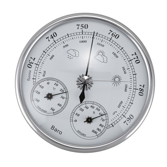HLZS-Wall Mounted Household Thermometer Hygrometer High Accuracy Pressure Gauge Air Weather Instrument Barometer - PanasiaMarine.Com