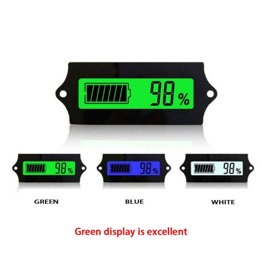 12V24V36V48V60V72V84V LED Lead Acid Storage Battery Tester Battery Indicator Gauge Battery Level Monitor For Marine Motorcycle - PanasiaMarine.Com