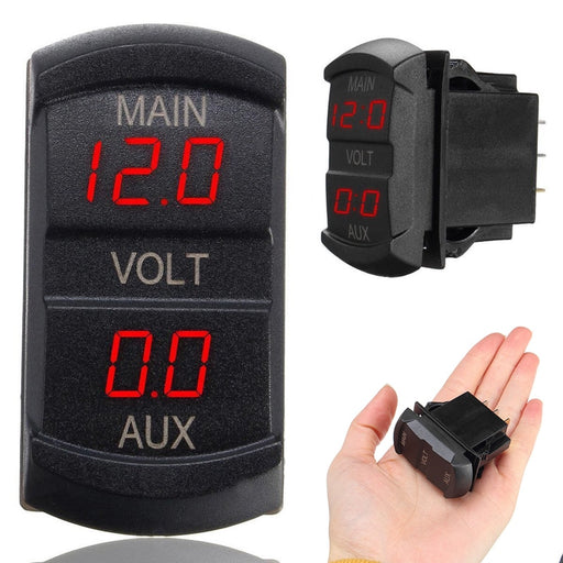 Mayitr 1pc 10-60V Red LED Digital Volt Meters Dual Voltmeter Voltage Gauge Monitor for 12V-24V Car Motorcycle Boat Marine ATV RV - PanasiaMarine.Com