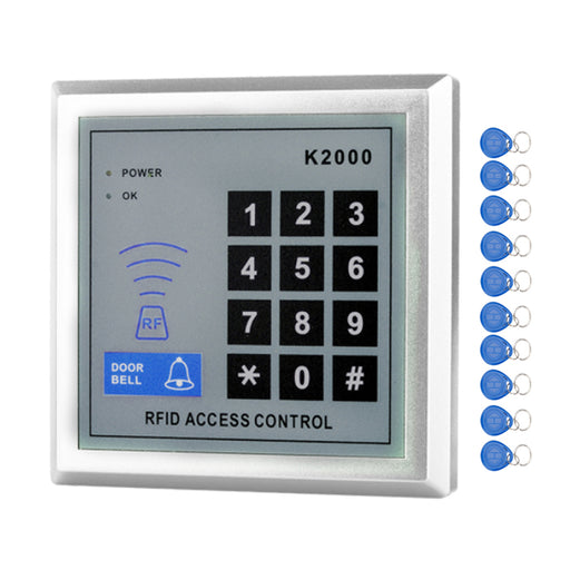 RFID Standalone Access Control Keypad 125KHz Card Reader Door Lock with 10 Proximity Key Fobs for Door security System-K2000 - PanasiaMarine.Com
