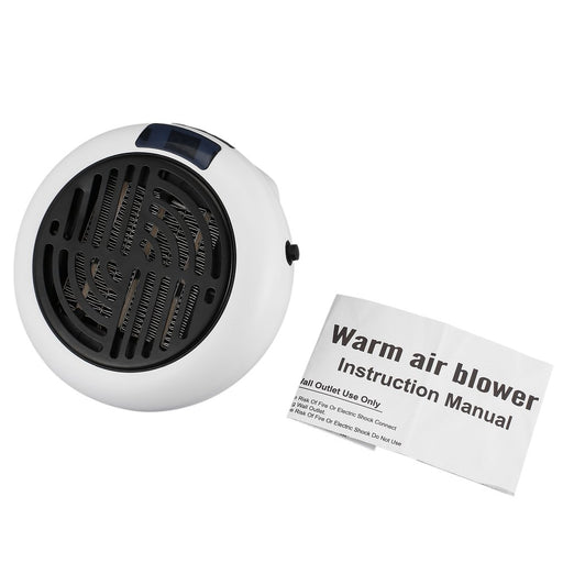 900w Mini Warm Air Blower Wall-outlet Portable Heater Auto Shut-off Compact And Powerful Digital Led Screen US/EU - PanasiaMarine.Com