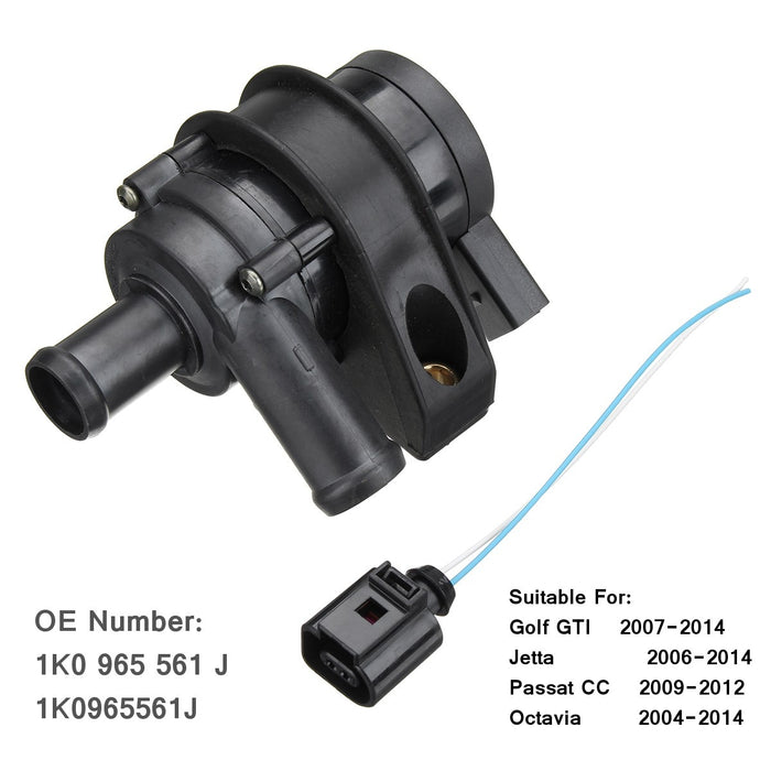 Engine Circulating Cooling Water Pump Auxiliary For VW Jetta Golf GTI Passat CC 1K0 965 561 J 1K0965561J - PanasiaMarine.Com