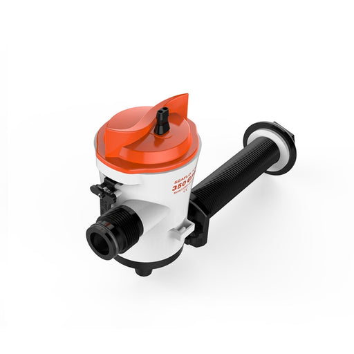 12V Easy Clean 350 GPH Flow Rate Industrial Electric Water Pumps Livewell Pump Housing Bait Well - PanasiaMarine.Com