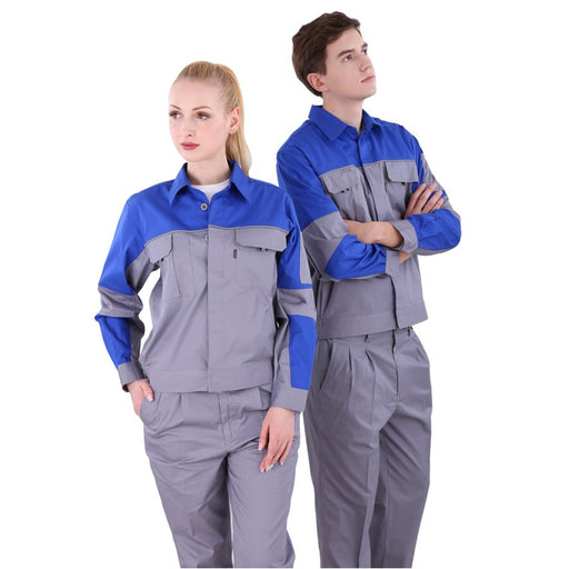 Overalls men stitching ultra-thin wear-resistant work clothes spodnie robocze quick-drying sweat-absorbent jacket+pants suit New - PanasiaMarine.Com
