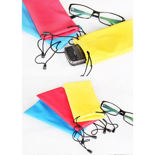 10pcs/lot Waterproof Drawstring Pouch Bag Case For Sunglass Glasses Cellphone MP3 Camera Random delivery - PanasiaMarine.Com