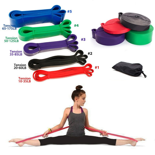 6 Level Yoga Training Belt Pull Up Resistance Bands Sets Athletic Power Rubber Bands Heavy Duty Workout Fitness Equipment - PanasiaMarine.Com