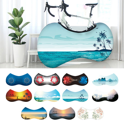 Indoor Universal Bike Wheel Cover Bags Elastic Anti-Dust UV Weather Keeps Floors Dirt-Free Gear Storage Bicycle Protective Bag - PanasiaMarine.Com