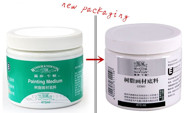 Freeshipping Windsor Newton 473ML resin painting material base oil painting acrylic  Loose bottom material acrylic medium paints - PanasiaMarine.Com