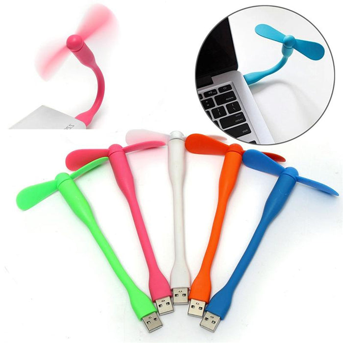 USB Fan Flexible USB Portable Mini Fan For Power Bank Notebook Laptop Computer Power-saving - PanasiaMarine.Com