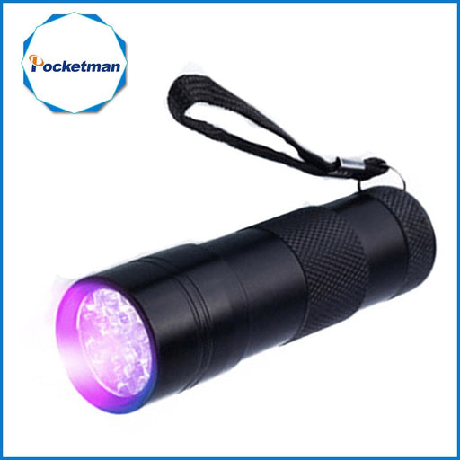 Mini 9LED UV Flashlight Ultraviolet led flashlight Ultra Violet Invisible Ink Marker Detection Torch Light 3AAA UV lamp - PanasiaMarine.Com