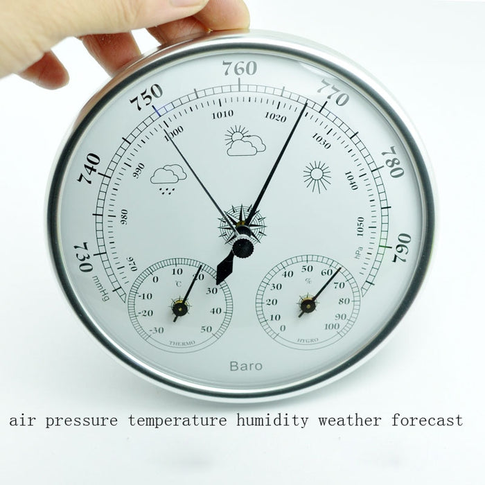 Hot selling Wall mounted household thermometer hygrometer high accuracy pressure gauge air weather instrument barometers - PanasiaMarine.Com