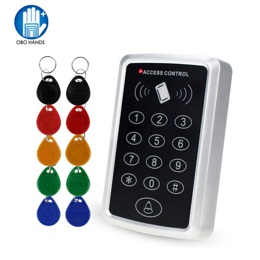 125KHz Rfid Standalone Access Control Keypad EM Card Reader with 10 Keychains Door Keyless Lock For Entry Security System - PanasiaMarine.Com