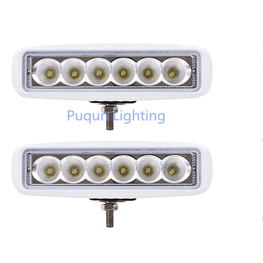 (Set of 2) White Spreader Deck Led Marine Lights for Boat (Flood Light) 12v - PanasiaMarine.Com