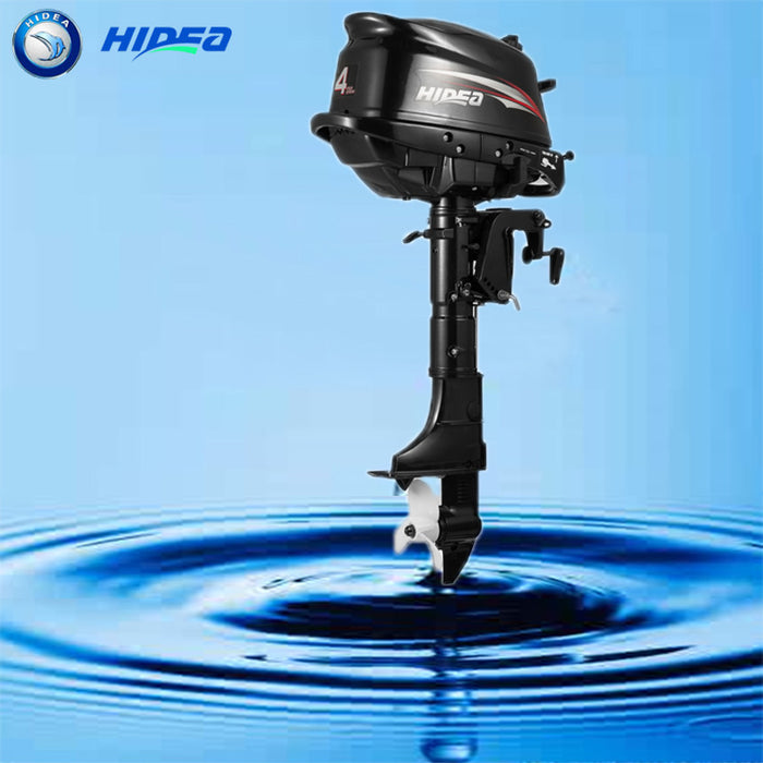 Hidea  Boat Engine  4 Stroke 4HP  Long  Shaft  Outboard Motor For Sale - PanasiaMarine.Com