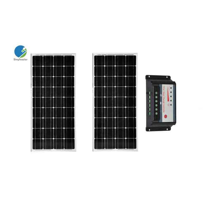 Solar Panel Kit 200W Solar Modules 100w 12V PWM Solar Charge Controller 20A 12V/24V Regulator Camp Marine Motorhome Caravan - PanasiaMarine.Com