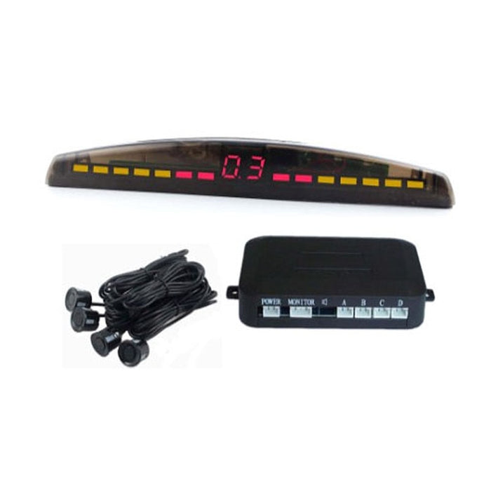 Car LED display parking sensor kit Multi-Color 4 Sensors Reverse Backup Radar Kit System Free Shipping - PanasiaMarine.Com