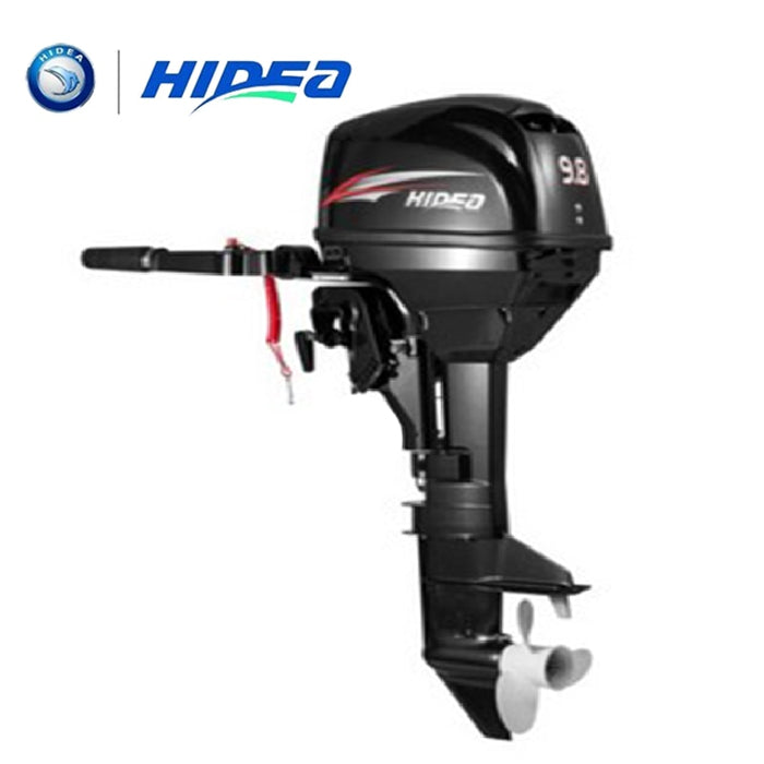 HIDEA Manual Water Cooled 2-stroke 9.8 HP marine engine outboard motor for boats long shaft - PanasiaMarine.Com