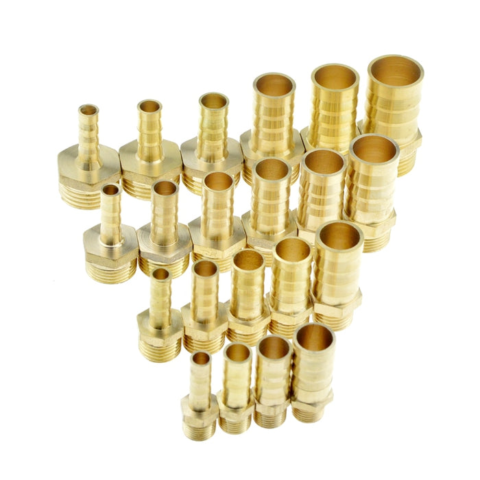 "Brass Pipe Fitting 4mm 6mm 8mm 10mm 12mm 19mm Hose Barb Tail 1/8"" 1/4"" 1/2"" 3/8"" BSP Male Connector Joint Copper Coupler Adapter - PanasiaMarine.Com"