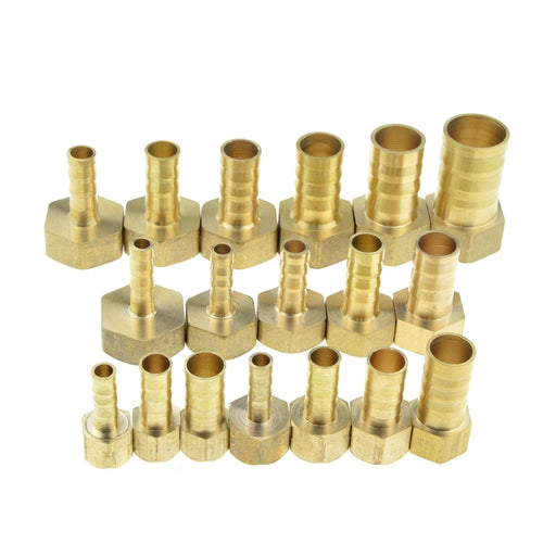"Brass Hose Fitting 4mm 6mm 8mm 10mm 19mm Barb Tail 1/8"" 1/4"" 1/2"" 3/8"" BSP Female Thread Copper Connector Joint Coupler Adapter - PanasiaMarine.Com"