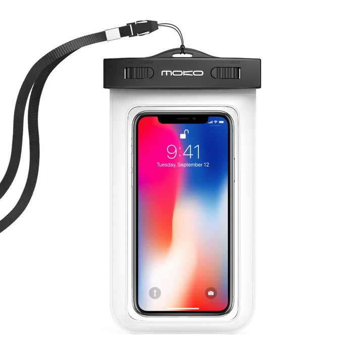 Universal Waterproof Phone Case,MoKo Multifunction CellPhone Dry Bag Pouch with Armband Feature & Neck Strap for iPhone X/8 Plus - PanasiaMarine.Com