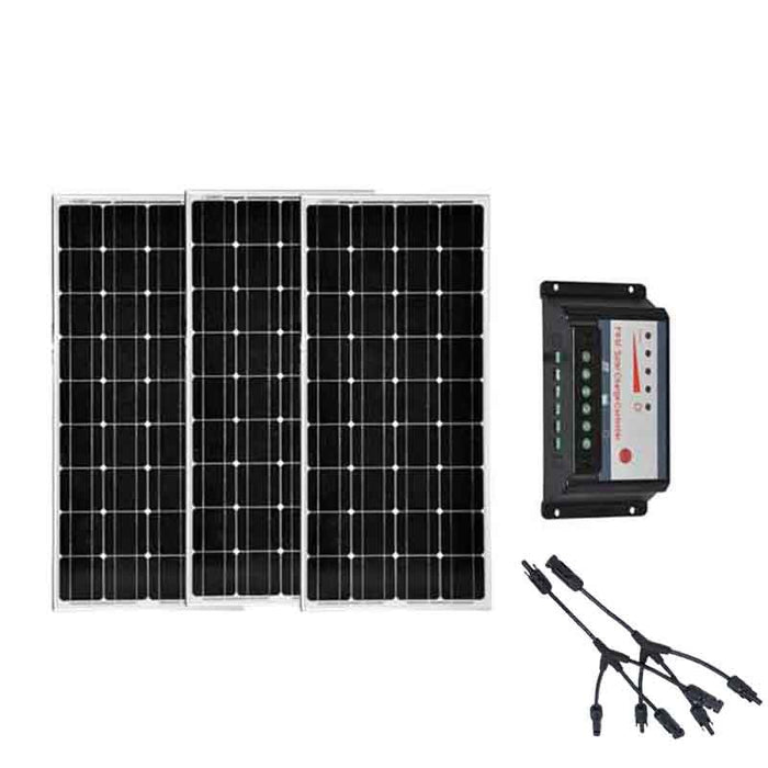 Panneau Solaire Portable 12v 100w 3Pcs/Lot  Solar Charge Controller 3 In 1 Connector Marine Yacht Boat Solar Power System - PanasiaMarine.Com