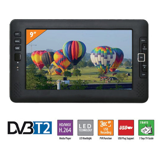 Liedao 9 Inch Portable Car TV Television DVB-T2 digital system HD Channel Receiver AV Input Monitor PVR Program Recording - PanasiaMarine.Com